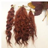 Волосы для кукол. Цвет медный.