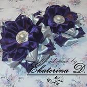 """Резинки """"Фиолетовый цветок"""""""