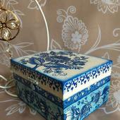 Сине-голубая шкатулочка