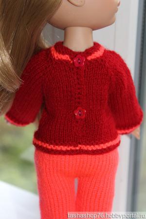 Брючки и джемпер для куклы ручной работы на заказ