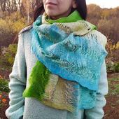 Валяный шарфик