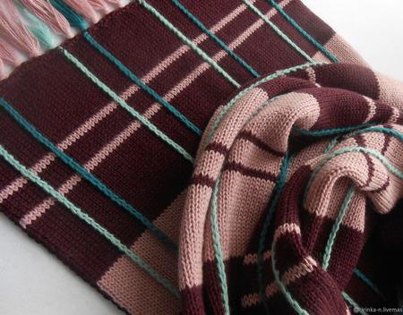"""Шарф вязаный """"Привет из Шотландии"""" ручной работы на заказ"""