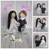 Свадебные интерьерные куколки