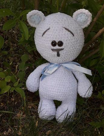 Плюшевый мишка Валентинка ручной работы на заказ