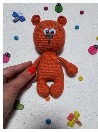 Медвежонок Валентинка ручной работы на заказ
