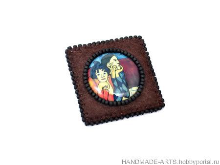 """Брошь """"Арлекин и его подружка. Пабло Пикассо"""" ручной работы на заказ"""
