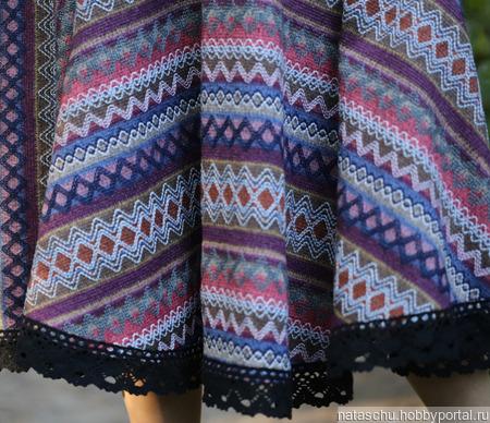 Теплая юбка миди зимняя ручной работы на заказ