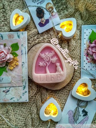 """Мыло ручной работы """"LIFE"""" с изображением дерева жизни и животных ручной работы на заказ"""