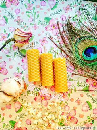 Мини-свеча из вощины ручной работы на заказ