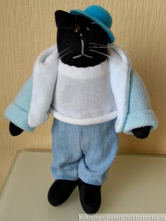 Текстильный кот в стиле Тильда ручной работы на заказ