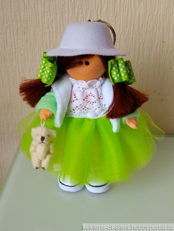 Интерьерная текстильная кукла-малышка ручной работы на заказ