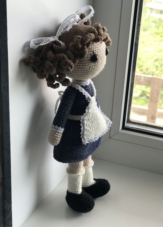 Кукла первоклассница ручной работы на заказ