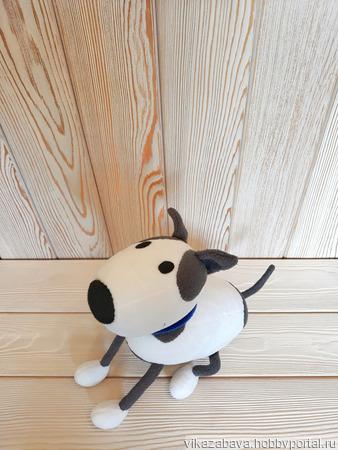 Плюшевый пес Спотти ручной работы на заказ