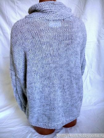 Вязаный свитер из мохера в Москве ручной работы на заказ