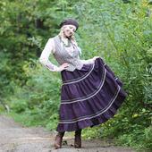 Бохо-юбка из полушерсти на осень и зиму