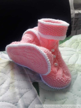 Носочки-сапожки 1 с бортиком ручной работы на заказ