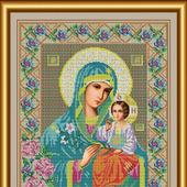"""Набор для вышивания бисером """"Икона Божией Матери Неувядаемый цвет"""""""