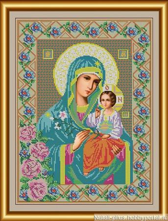"""Набор для вышивания бисером """"Икона Божией Матери Неувядаемый цвет"""" ручной работы на заказ"""