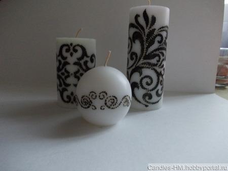 Комплект свечей ручной работы на заказ