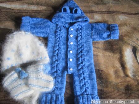 """Комбинезон для новорождённого """"Зимнее утро"""" ручной работы на заказ"""