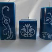 Комплект свечей с орнаментом