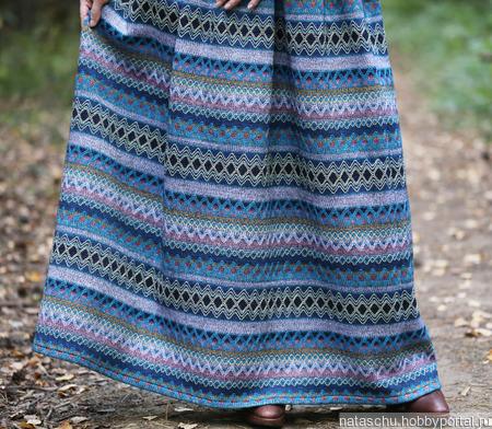 Юбка теплая в этно стиле зимняя ручной работы на заказ