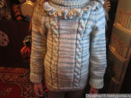 Свитер на девочку 5-6 лет ручной работы на заказ