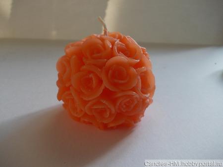 Свеча в цветочках ручной работы на заказ
