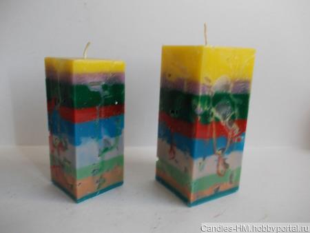 """Комплект свечей """"Радуга"""" ручной работы на заказ"""