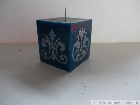 Комплект свечей с орнаментом ручной работы на заказ