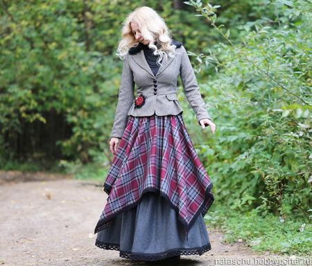 Теплая юбка на зиму бохо ручной работы на заказ