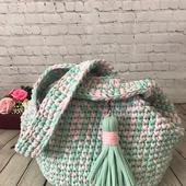 Вязаная женская сумка «Петля»