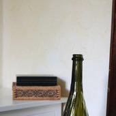 Бутылка стеклянная оливковая спиральные ребра с окошком