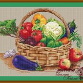 """Схема для вышивания """"Урожайная корзина"""""""