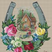 """Схема для вышивания """"Счастливый дом"""""""