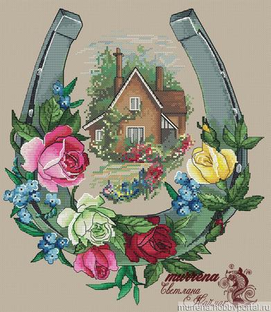 """Схема для вышивания """"Счастливый дом"""" ручной работы на заказ"""