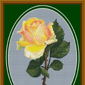 """Схема для вышивания """"Чайная роза"""""""