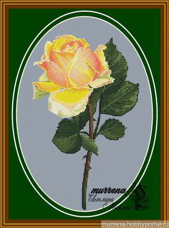 """Схема для вышивания """"Чайная роза"""" ручной работы на заказ"""