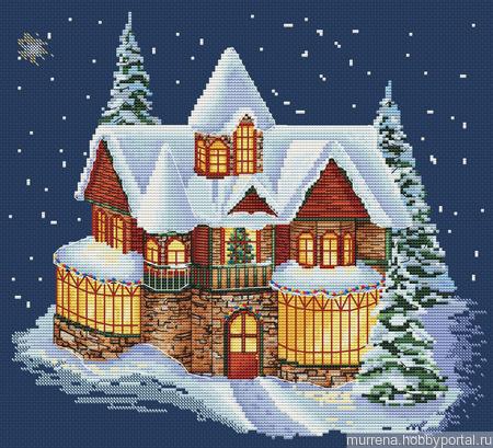 """Схема для вышивания """"Уютный Новый год"""" ручной работы на заказ"""