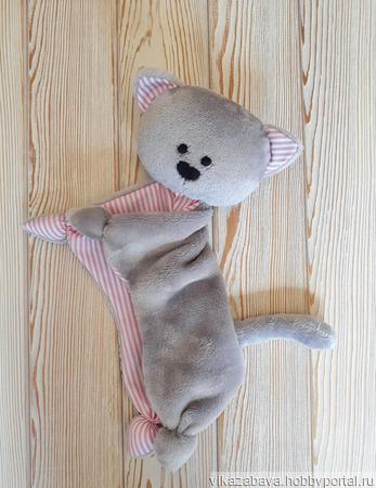 Плюшевый комфортер котенок Барсик ручной работы на заказ