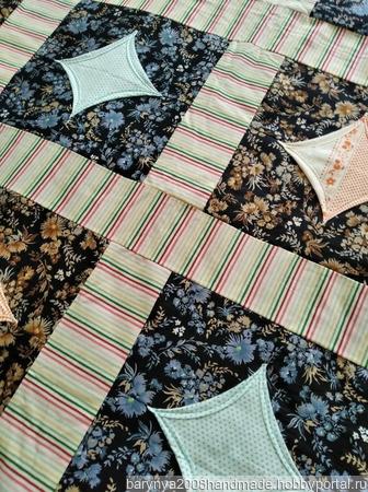 Лоскутное одеяло-покрывало ручной работы ручной работы на заказ