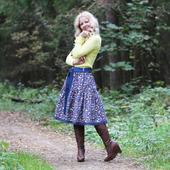 Джинсовая юбка миди на осень-веcну