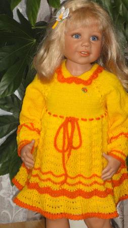 """Платье """"Осень"""" ручной работы на заказ"""