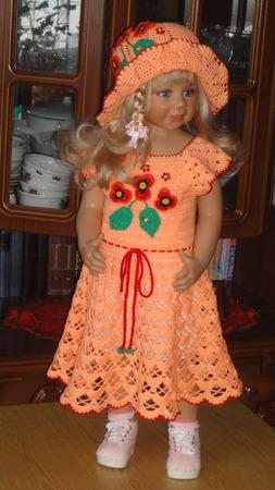 """Платье """"Персик"""" ручной работы на заказ"""
