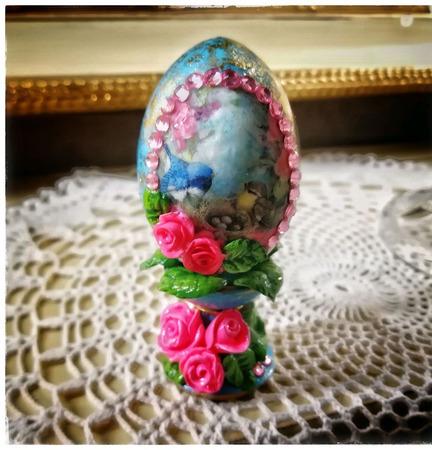 """Яйцо пасхальное подарочное """"Новая жизнь"""" ручной работы на заказ"""