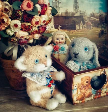 """Короб для мелочей """"Sweet Lovely Teddies"""" ручной работы на заказ"""
