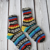 Детские шерстяные вязаные плотные и теплые носки