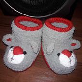 """Пинетки """"Мишка Тэдди"""" для девочки: рукодельные товары"""