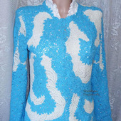 "Вязаный пуловер ""Лазурные мечты"""