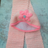 Комплект шапочка и шарф для девочки